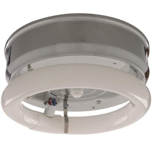 "Sunlite 8"" Fluorescent Circline Fixture, Chrome Finish"