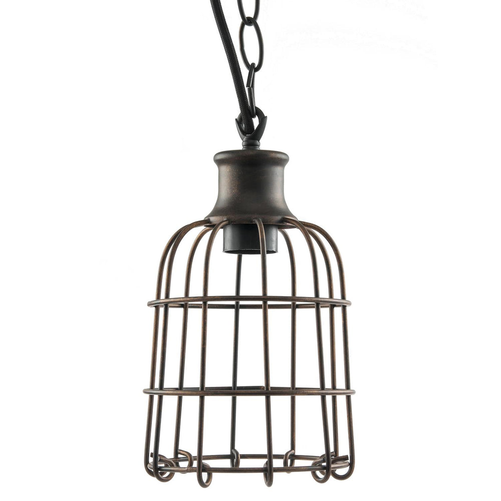 Sunlite Iron Rust Open Cage Antique Style Pendant Fixture