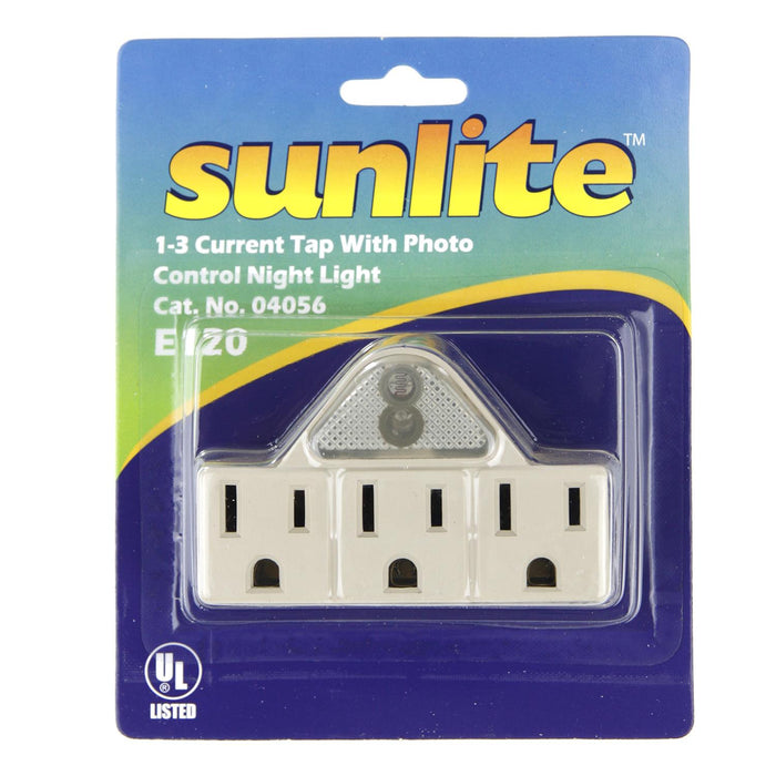 Sunlite E120 1-3 Current Tap with Photo Control Night Light