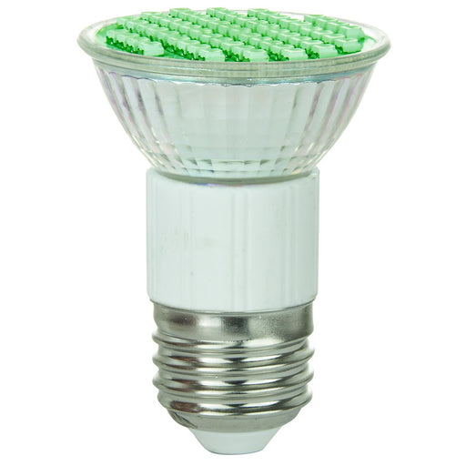 Sunlite LED JDR MR16 2.8W (25W Equivalent) Light Bulb Medium (E26) Base, Green