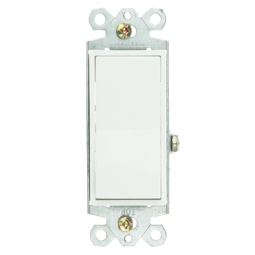 Sunlite E509 On/Off Grounded Rocker Switch, White