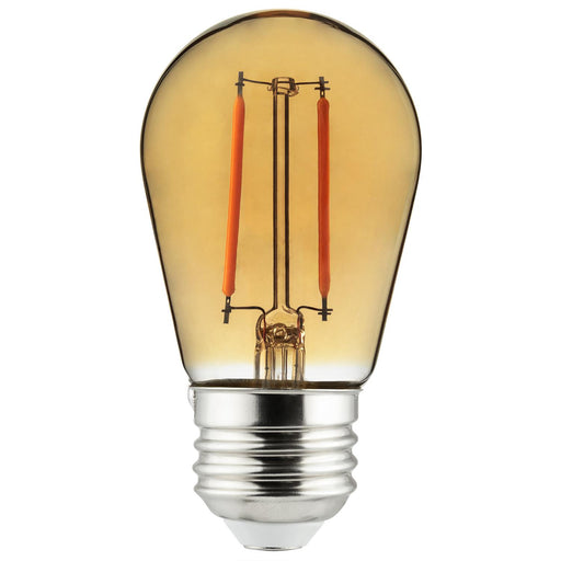 Sunlite 81093 LED Filament Transparent Light Bulb Amber 1 Pack