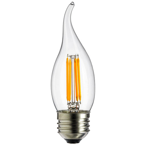 Sunlite LED Vintage Chandelier 4W (25W Equivalent) Light Bulb Medium (E26) Base, Warm White
