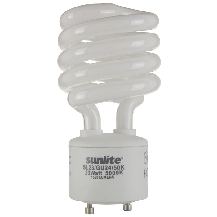 Sunlite 23 Watt GU24 Sprial, GU24 Base, Super White