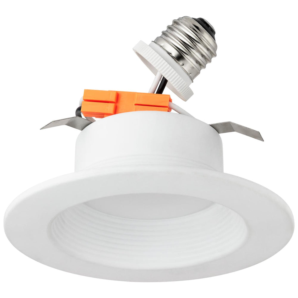 Sunlite 88990-SU LED Recessed Lighting Baffle Fixture, Retrofit Kit for 4-Inch Cans, 10 Watts (75W Equivalent), 800 Lumens, Medium Base (E26), Dimmable, Energy Star, UL Listed, 30K - Warm White 1 Pack