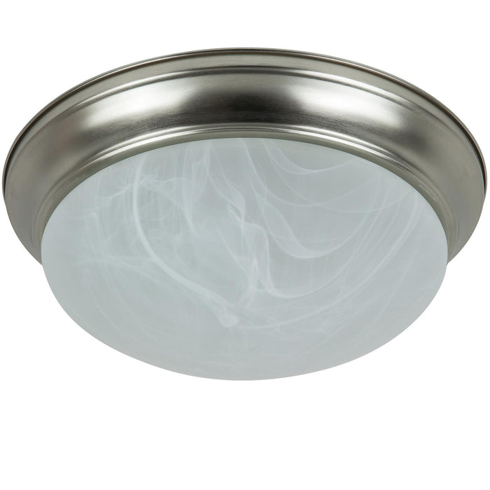 "Sunlite 12"" Energy Saving Dome Fixture, Brushed Nickel Finish, Alabaster Glass"