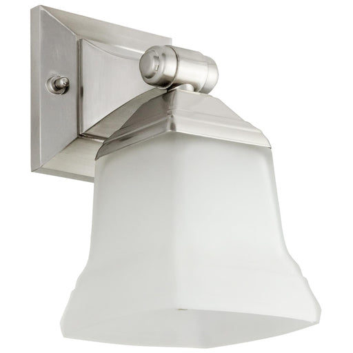 Sunlite 46061-SU Vanity Fixture One Light 5 Inch, Bell Shaped Frosted Glass, Brushed Nickel Finish