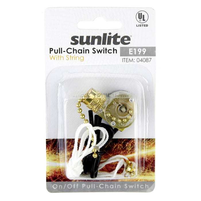 Sunlite E199 - PULL CHAIN SWTICH WITH STRING