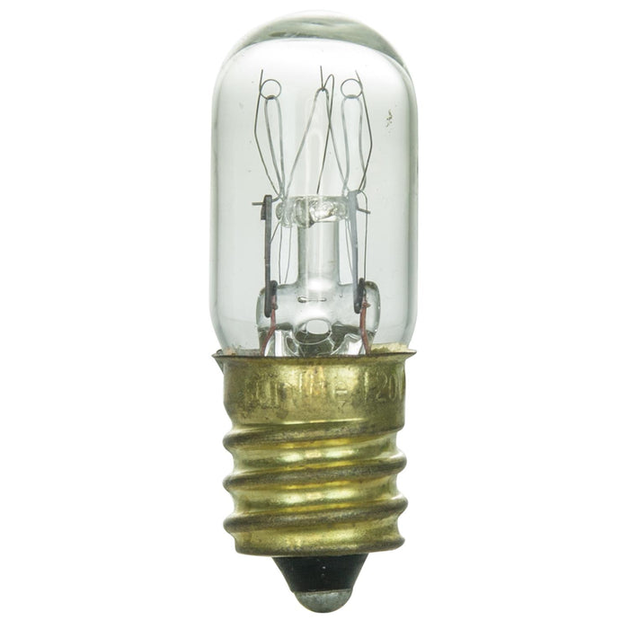 10 Pack Sunlite 15 Watt T4 Tubular, Candelabra Base, Clear