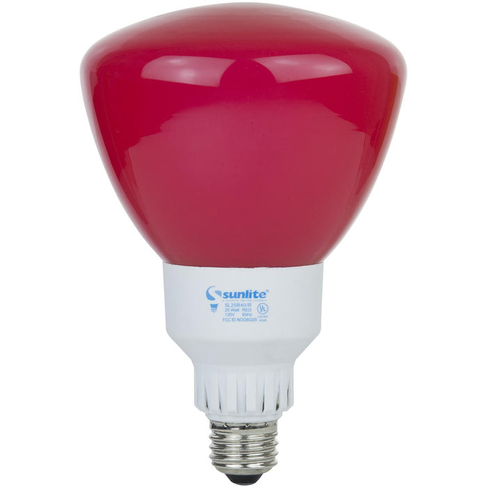 Sunlite 25 Watt R40 Reflector Colored, Medium Base, Red