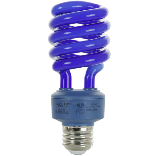 Sunlite 24 Watt Colored Spiral, Medium Base, Blue