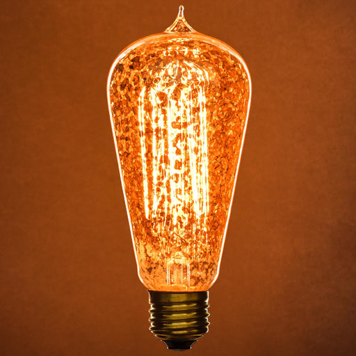 Sunlite 40 Watt Antique Edison S19, Medium Base, Golden Fleck