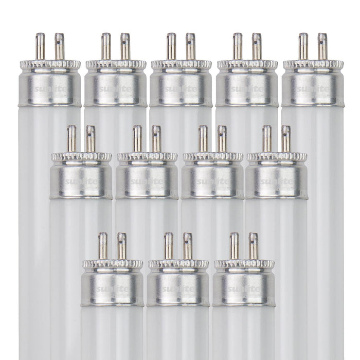Sunlite F21T5/841/12PK 21 Watt T5 High Performance Straight Tube Mini Bi-Pin (G5) Base, 4100K Cool White, 12 Pack