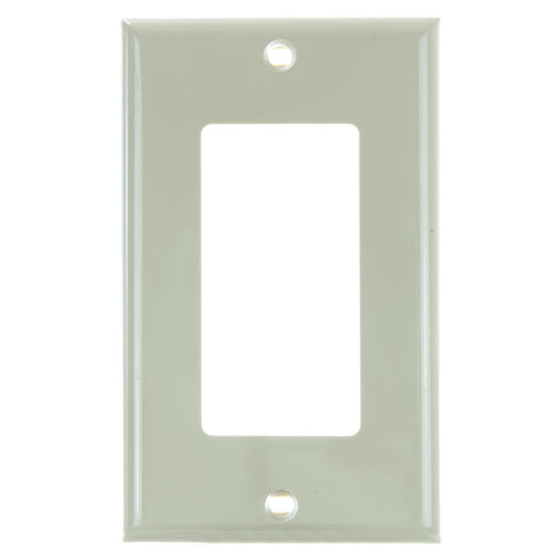Sunlite E301/I 1 Gang Decorative Switch and Receptacle Plate, Ivory