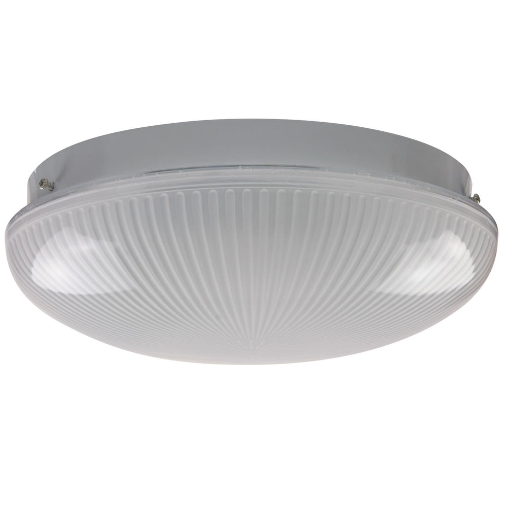 "Sunlite 12"" 1 Lamp Fluorescent Circline Fixture, White Finish, Ribbed Frosted Lens"