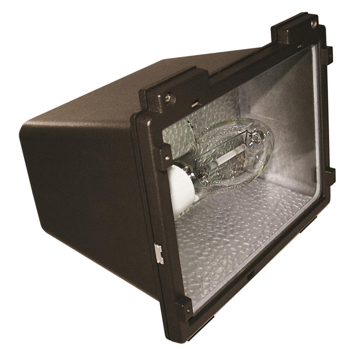Sunlite 42 Watt Energy Saving Fluorescent Medium Floodlight Fixture, Bronze Powder Finish, Clear Tempered Glass