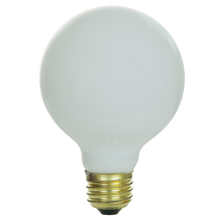 Sunlite 25 Watt G25 Globe, Medium Base, White