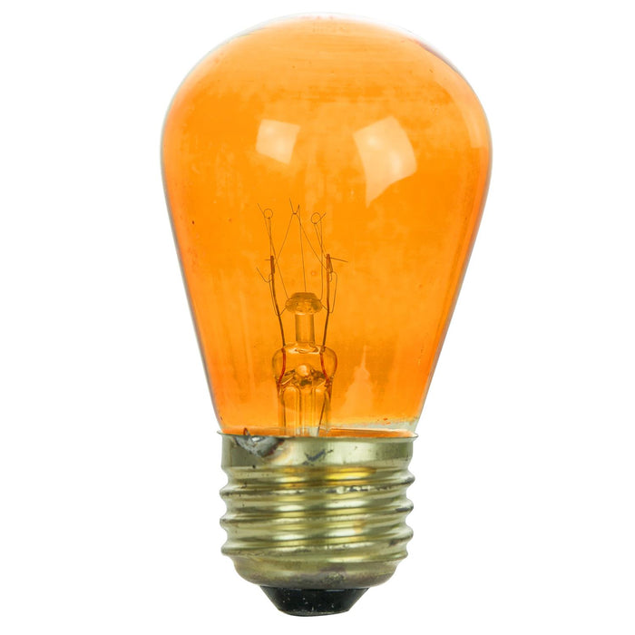 Sunlite 11S14/TO 11 Watt S14 Lamp Medium (E26) Base Orange