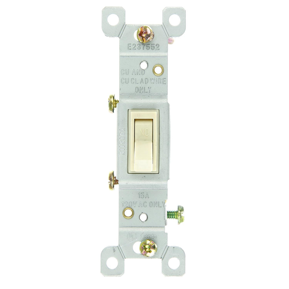 Sunlite E506/CD On/Off Grounded Toggle Switch, Ivory