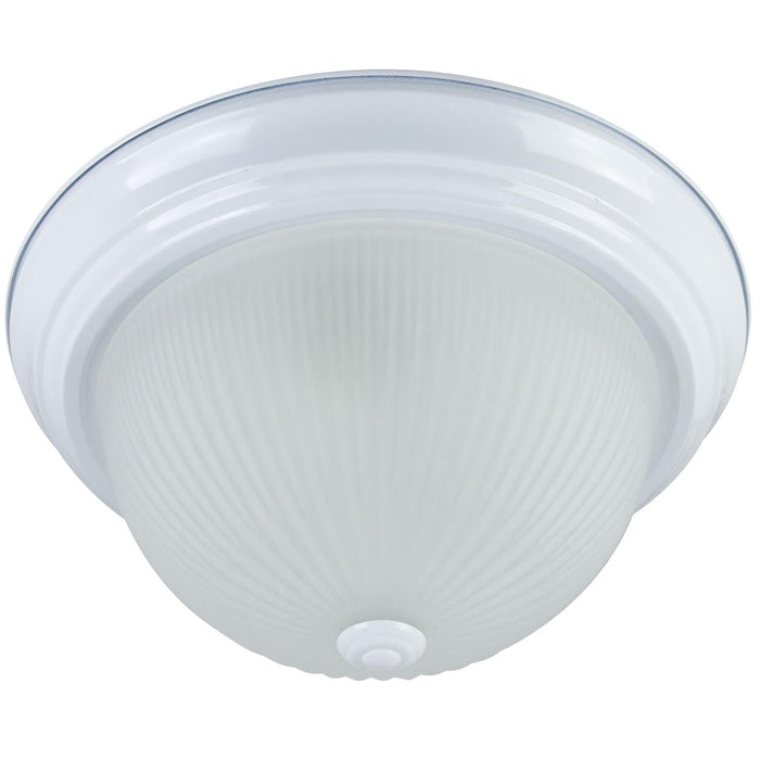 "Sunlite 13"" Decorative Dome Ceiling Fixture, Smooth White Finish, Frosted Glass"