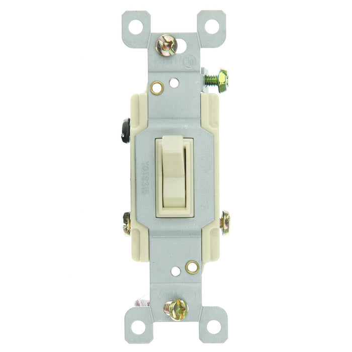 Sunlite E508/CD1 3 Way Grounded Toggle Switch, Ivory