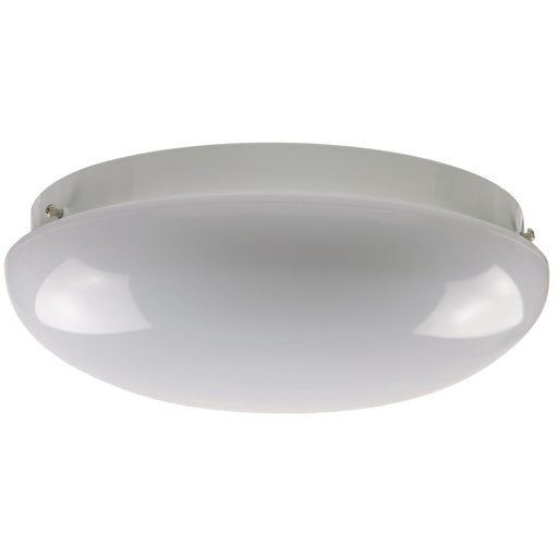 "12"" 1 Lamp Fluorescent Circline Fixture, White Finish, White Mushroom Lens"
