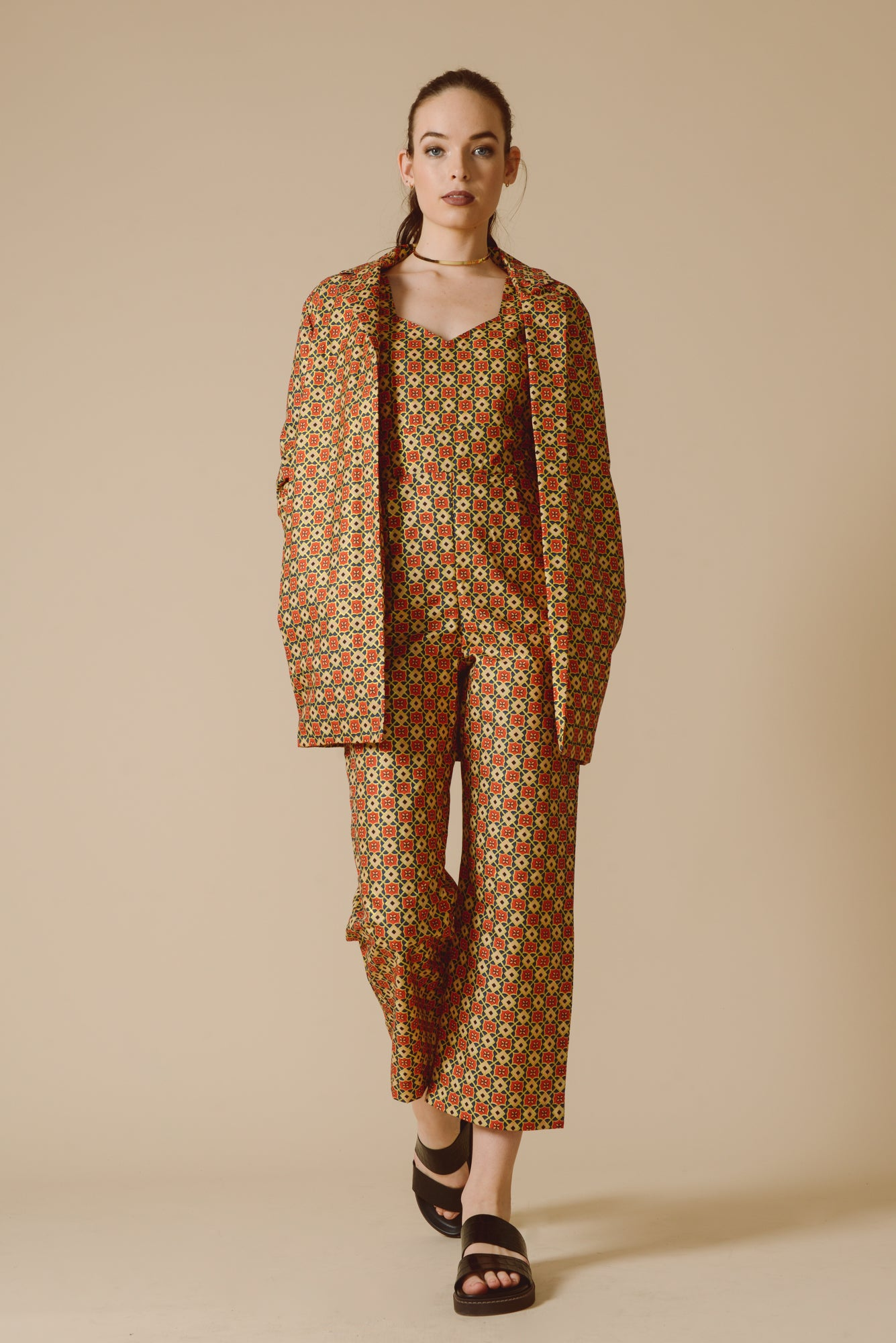 1419e7e38666 Hope Jumpsuit in 70s Gold - Mayamiko Sustainable Fashion