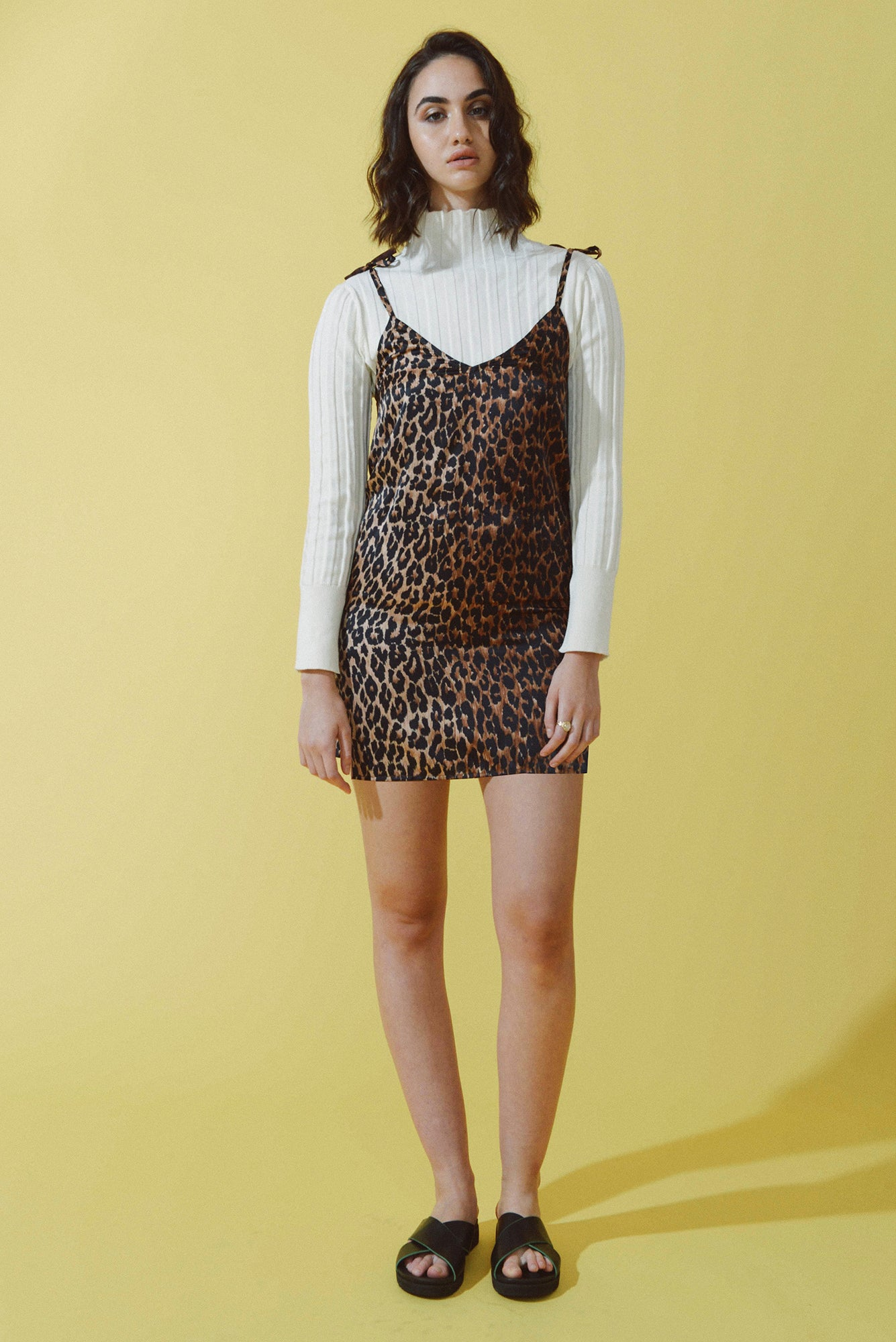 Anna Slip Dress in Animal Print from Mayamiko