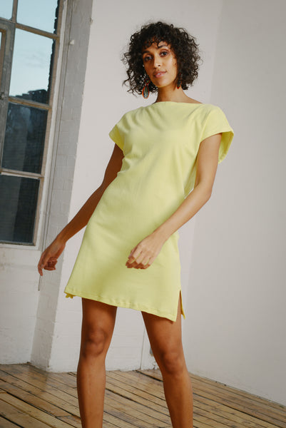132007b5e05 Reclaimed Jersey V Back Tunic in Yellow