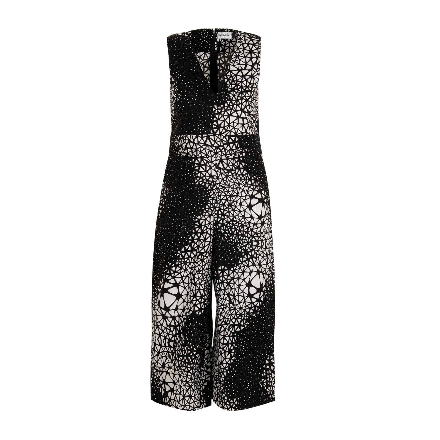7eb94ff3ca Martina Jumpsuit in Black and White Abstract Print