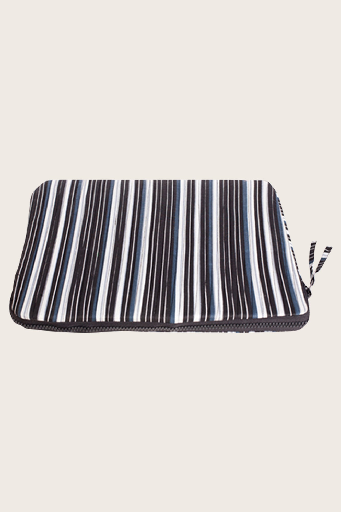 Grey Stripes Laptop Sleeve from Mayamiko