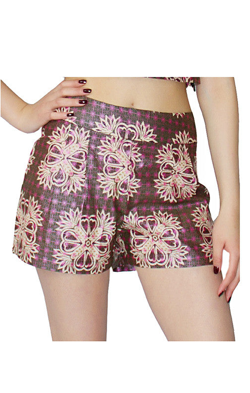 Celtic Thistle Shorts from Mayamiko