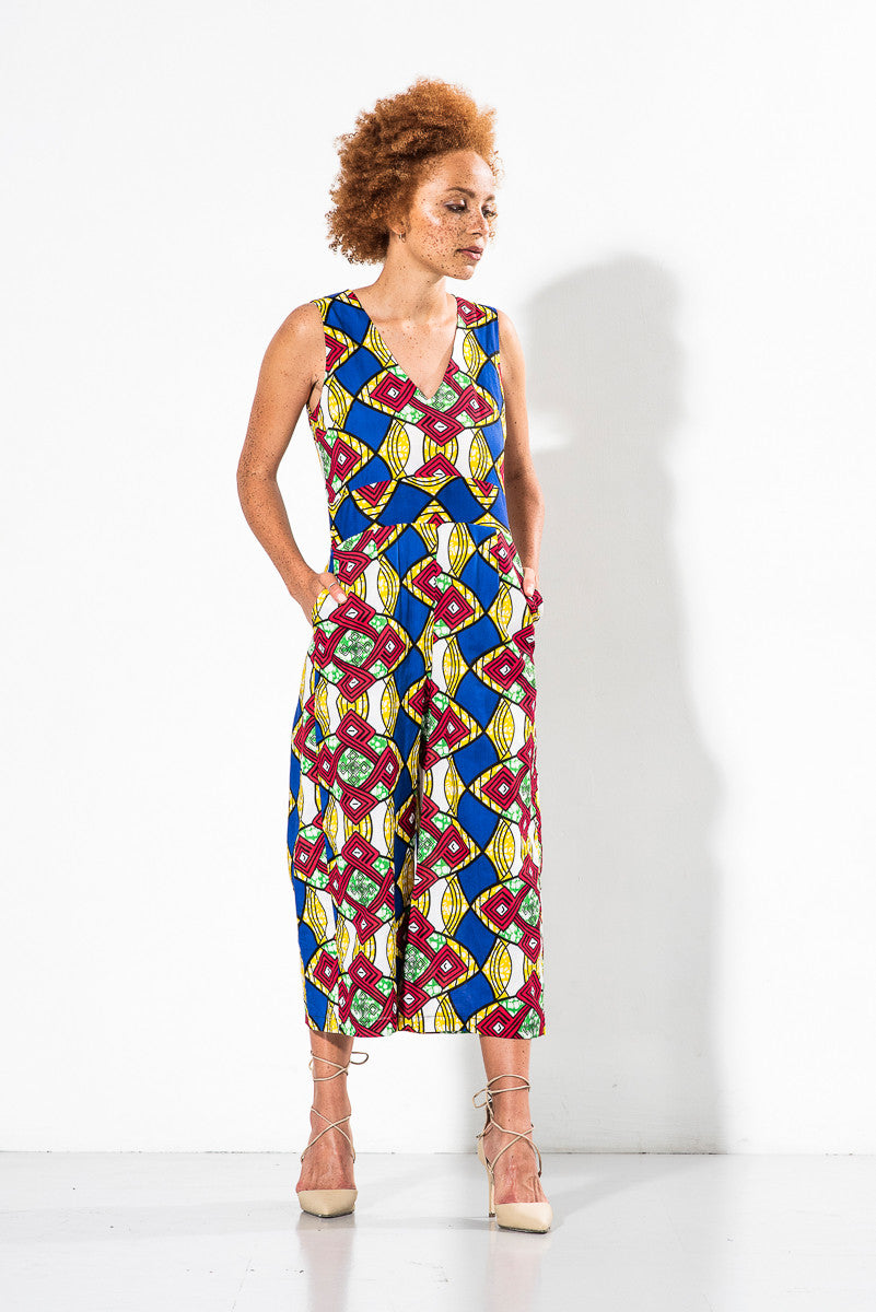 Martina Jumpsuit in Afro Beat