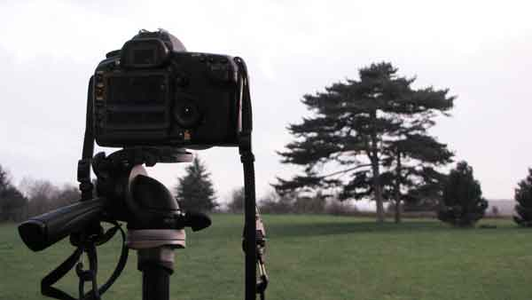 Digislider HDR tutorial Camera set up on tripod