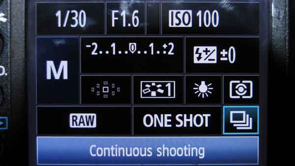 Digislider HDR tutorial continuous shoot mode