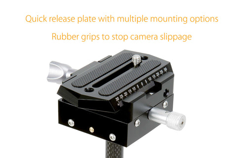 Digislider 3 Axis Portable Foldable Stabilizer Quick Release Plate Rubber Grip