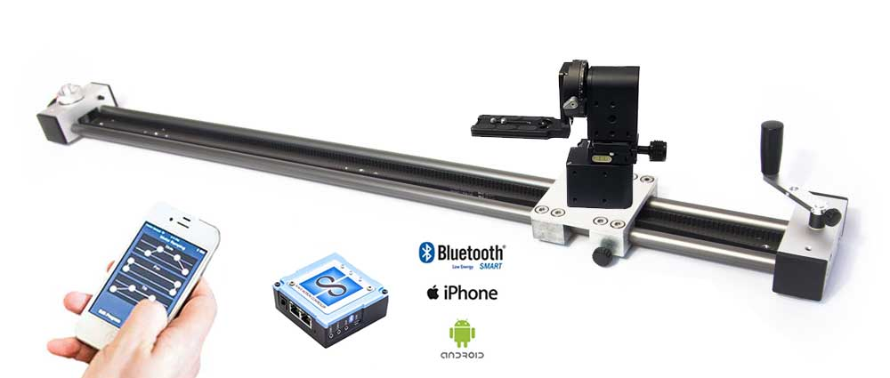 Digislider multiple axis pan slide tilt video shoot move shoot time lapse stop motion slider