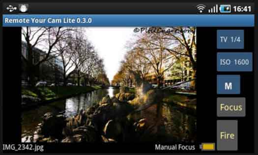 Remote Your Cam wifi for DSLRs app screenshot
