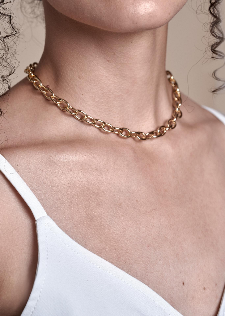 Chrissy Rolo Chain Necklace