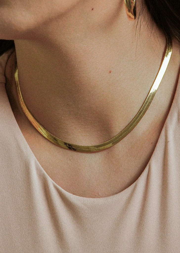 Dylan Herringbone Necklace (Super Thick)