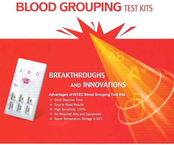 Blood Group Test Kit (Blood Type) - ABO & RHD (Combined)