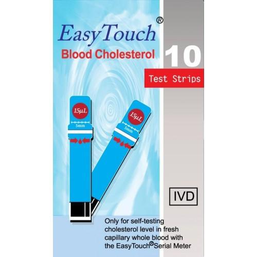 Easy Touch Cholesterol Test Strips (10 per Vial)