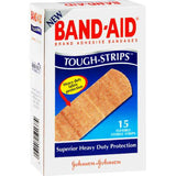 Band-Aid Tough-Strips Adhesive Bandages (15 Strips/Box)