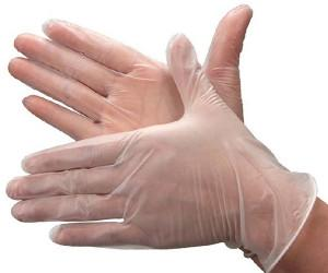White Vinyl Gloves (100/Box)