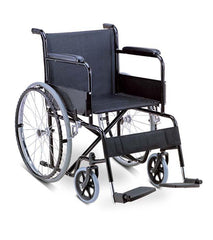 Wheelchair - Steel/Nylon with Fixed Arm/Foot Rests (Basic Model)