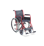 Wheelchair - Steel/PVC with Detachable Arm/Foot Rest