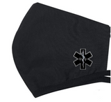 3-Ply Poly-Cotton Mask with Star of Life Logo (Black)