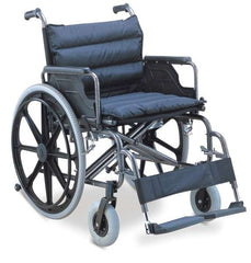 Wheelchair - Steel/Nylon - Extra Wide with Detachable Arm/Foot Rest