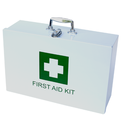 Empty Metal First Aid Box Only