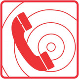 Fire Telephone safety sign